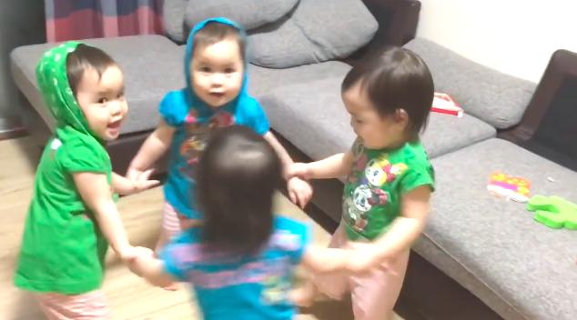 悶絶級!四つ子(一卵性・自然妊娠)の綾ズが笑えてかわいいと注目が集まる石原家