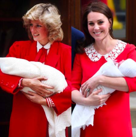 キャサリン妃が第三子お披露目で着用のワンピースはどこの?赤に込められた意味